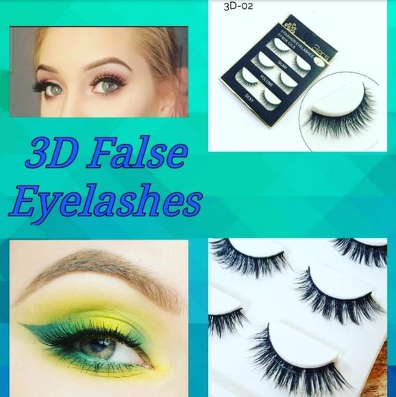 Makeup 3pr Mink 3d False Lashesnatural Thick Look Poshmark